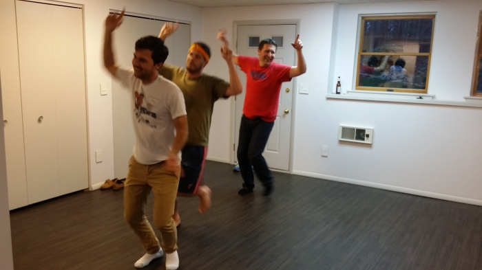 Oefenen voor het dansje!