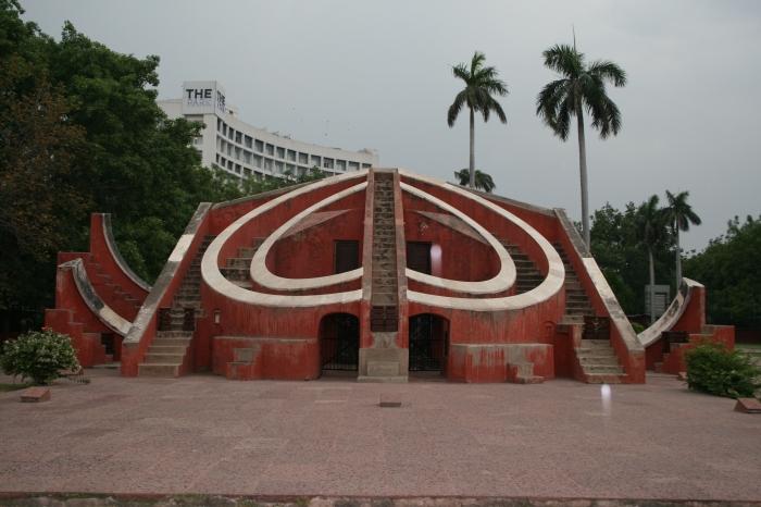 Een deel van de Jantar Mantar in Delhi