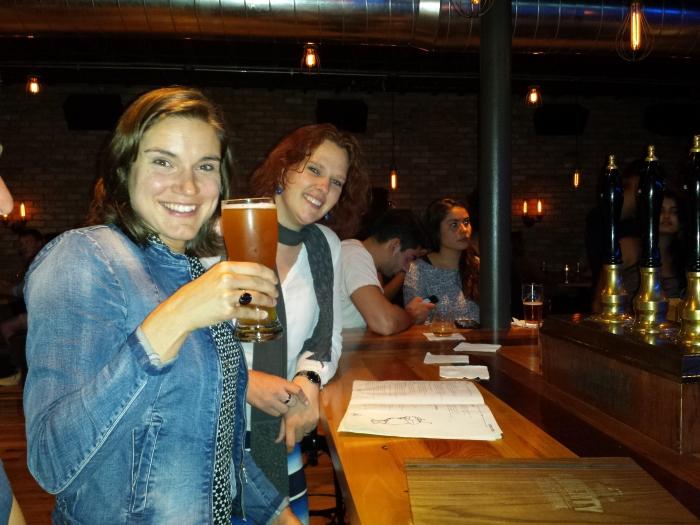 En nog een biertje bij Liberty om het af te leren
