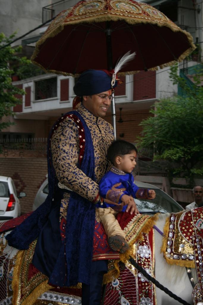 Pranav op zijn paard