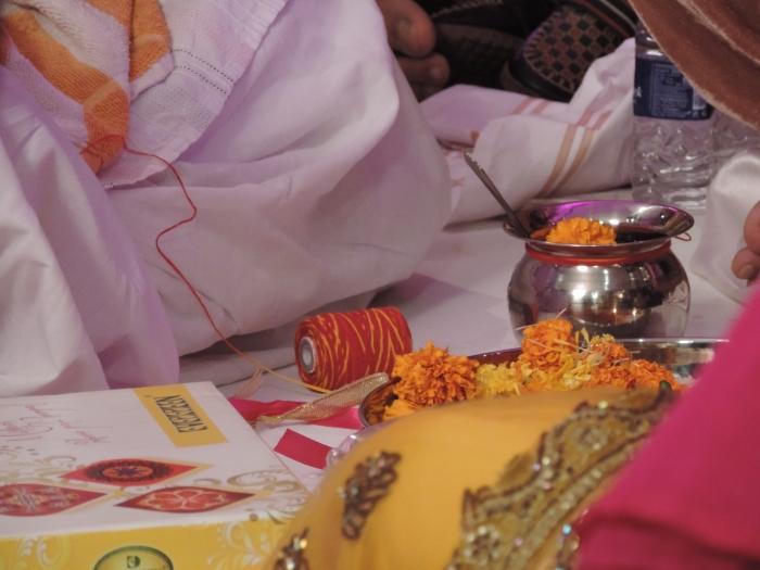 Voor de Tilak ceremonie