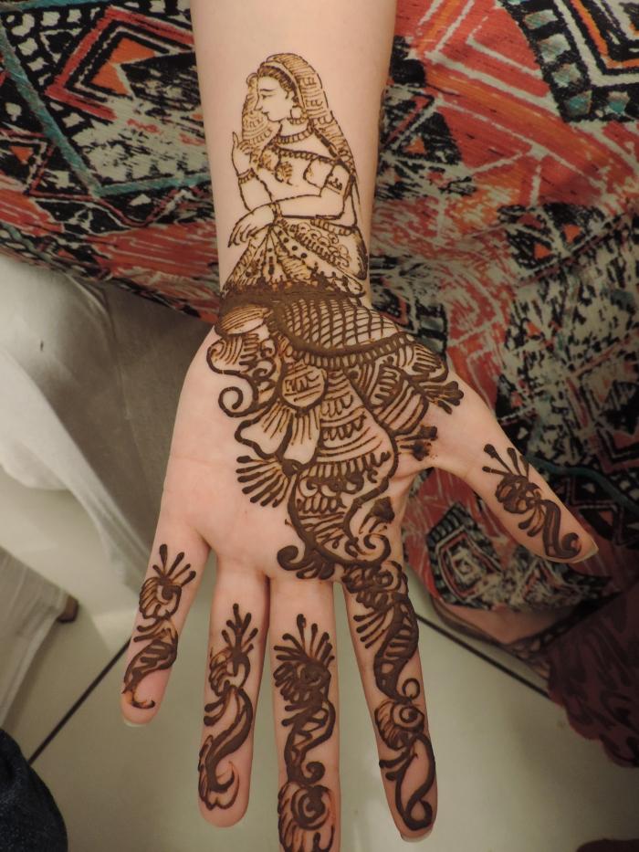 De bruid op mijn linkerarm... wat een kunstwerk he?
