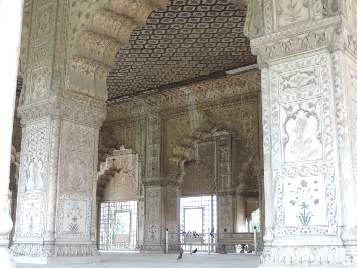 Detail van een gebouw in het fort. Mooi!
