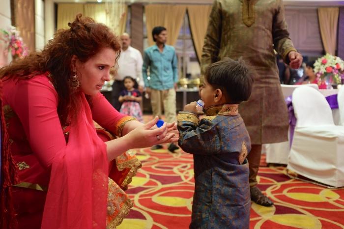 Ik met Pranav's neefje - te schattig!
