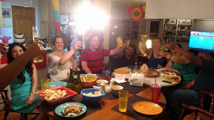 Toasten op Priya - met een mooie lamp in het midden!