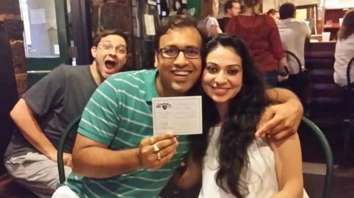 Pranav en Priya, voor de (voorlopig) laatste keer in de Rathskeller