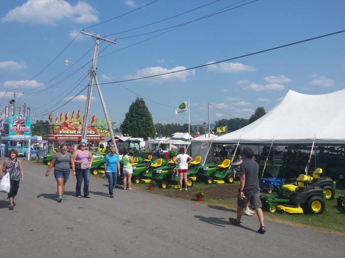 Groen-geel alom op de Grang Fair