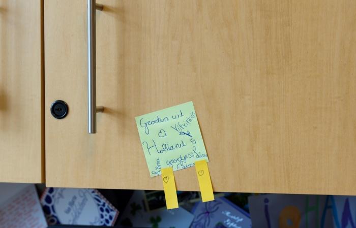 Lieve briefjes van Lima op kantoor!