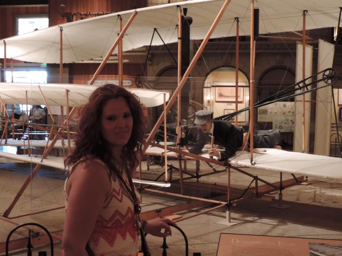 Het originele vliegtuig van de Wright broers