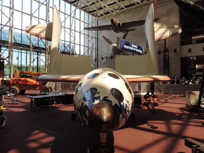 Heel wat vliegtuigen bij het Air and Space Museum!