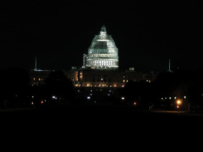 Kunstzinnige pixelfoto van het Capitool!