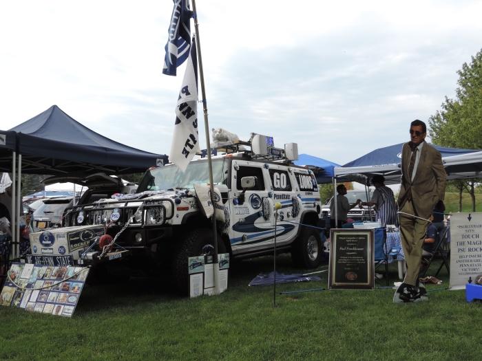 Met een echte custom Hummer!