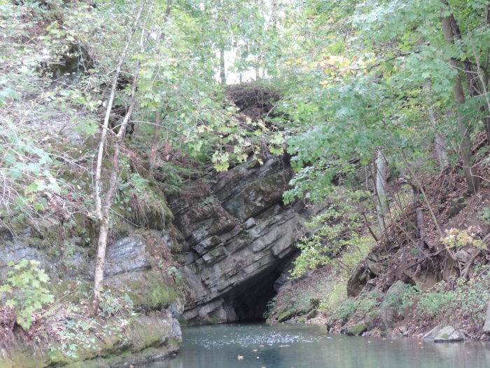 De uitgang van Penn's Cave