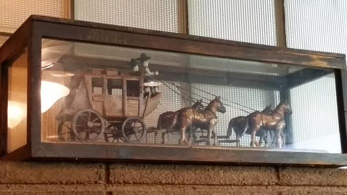 De postkoets van mijn pa... maar dan in Oklahoma in een glazen kist