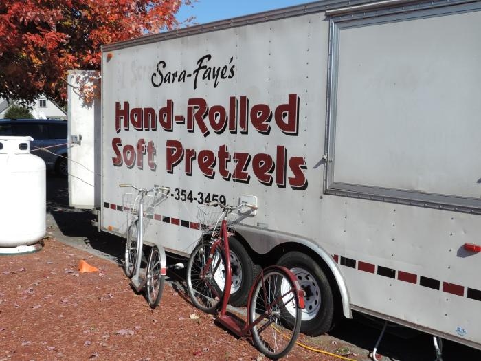 Soft pretzels en stepjes... typisch Amish!