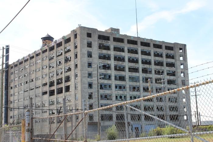 Leegstaande kantoorpanden in Detroit