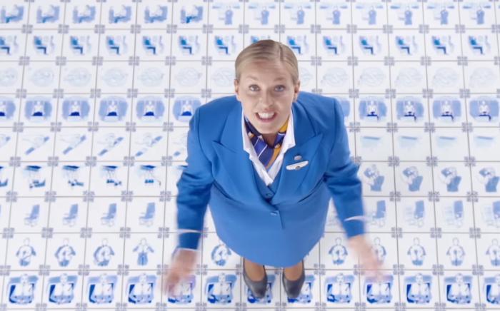 Gemaakt van ruim duizend Delftblauwe tegels!