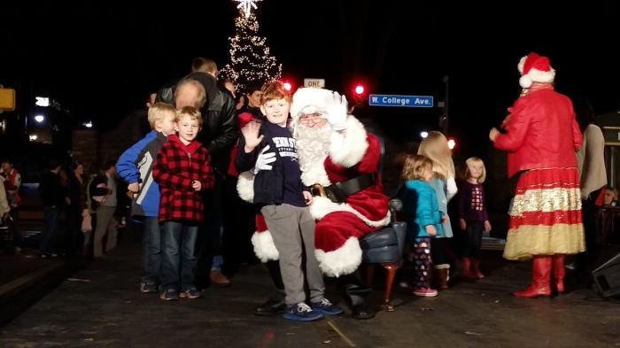 Op schoot bij Santa
