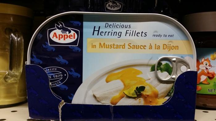 Haring in mosterdsaus. Dus...