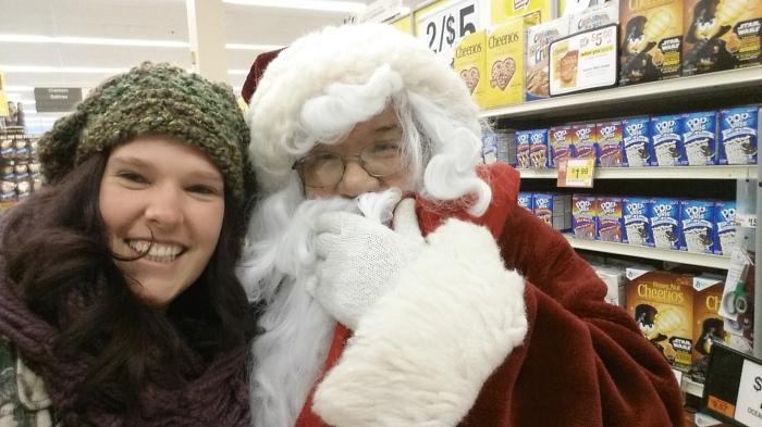 Dit was nog in State College. Op de foto met Santa (zijn baard liet los... schattig)