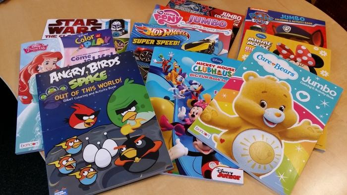 Kleurboeken als 'entree' voor de kerstlunch