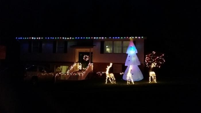 Onze buren - wij steken er wat schril bij af