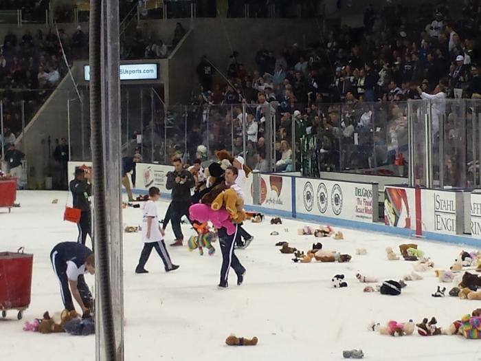 Allemaal teddyberen op het ijs