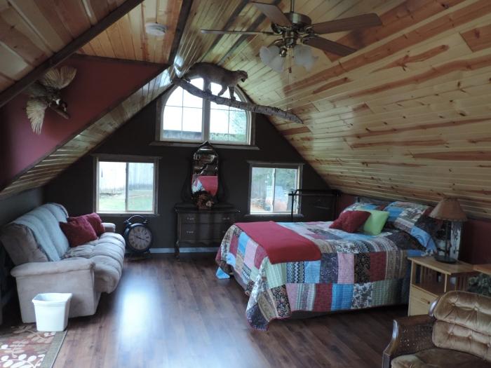 Bovenverdieping van de cabin