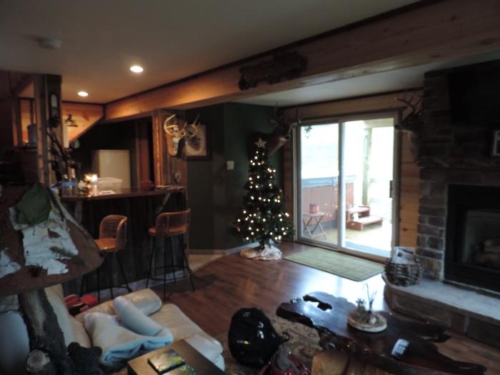 Benedenverdieping van de cabin van Melanie