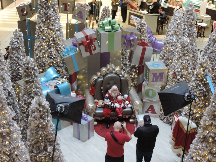 Santa in the Mall of America