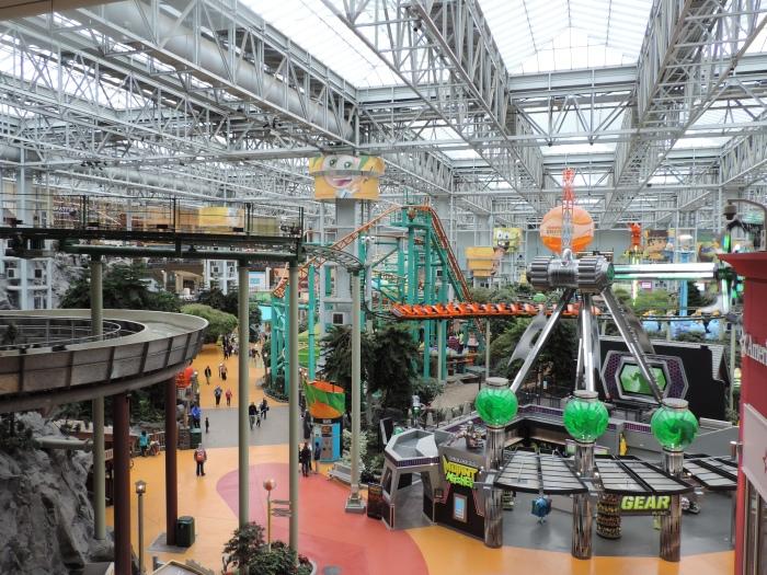 Een pretpark om de kinderen bezig te houden in The Mall of America