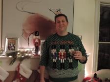 Michiel met z'n Ugly Christmas Sweater