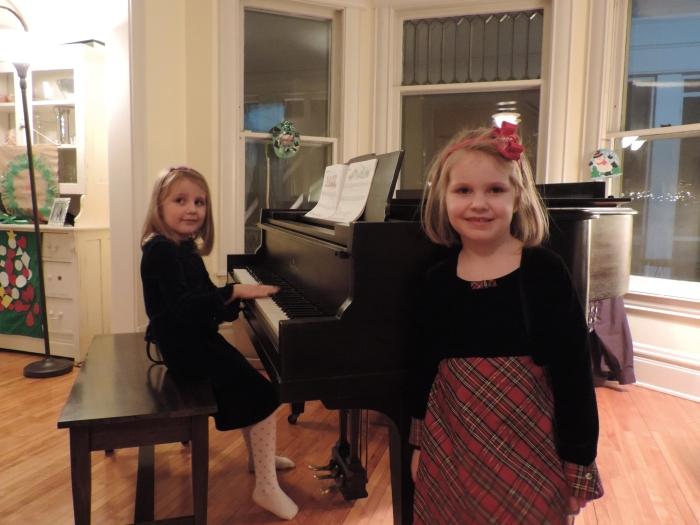 Vlak voor mijn pianoles!