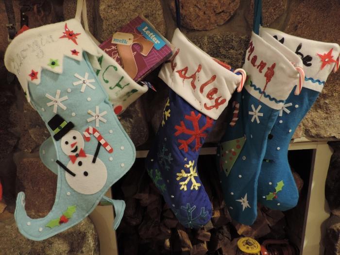 Stockings aan de schoorsteenmantel