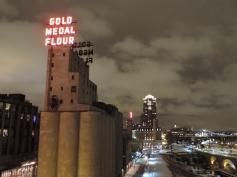 Een van de grote meelfabrieken in Minneapolis