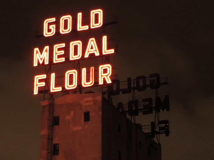 Detail van de meelfabriek - Gold Medal Flour