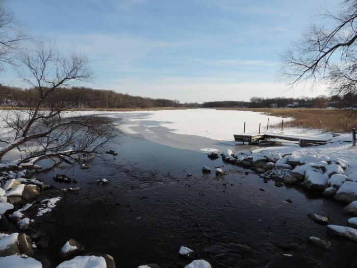 Lake Minnetonka in de sneeuw