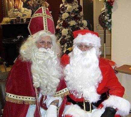 Sinterklaas en de Kerstman (Santa Claus)