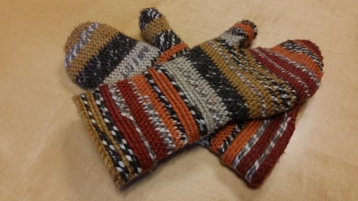 Zelfgehaakte handschoenen!
