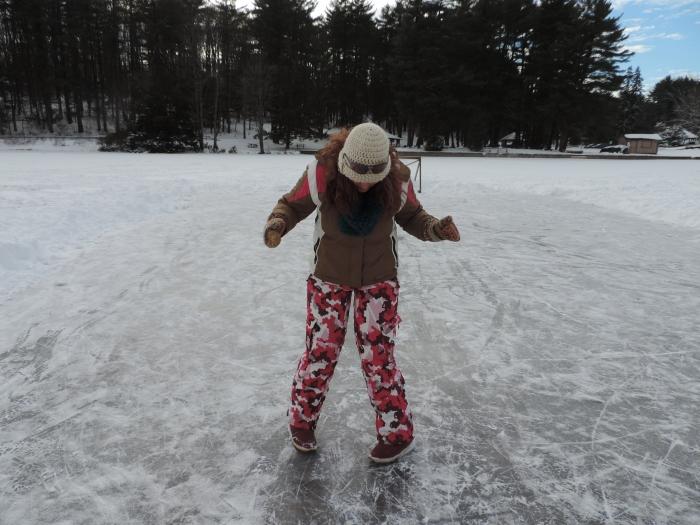 Op het ijshockeybaantje