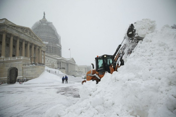 Sneeuw in Washington DC