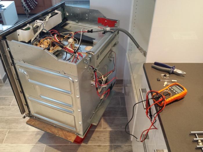 Onze oven deed het even niet meer...