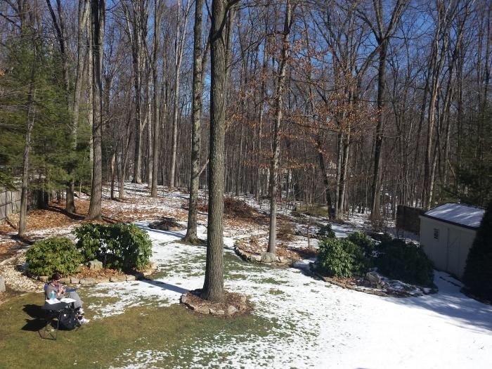17 graden in de sneeuw... heerlijk even opladen!