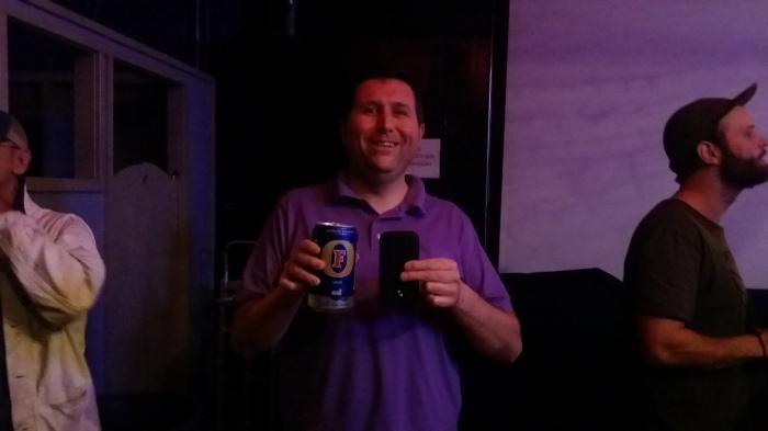 Extra groot biertje bij het concert - driekwart liter!