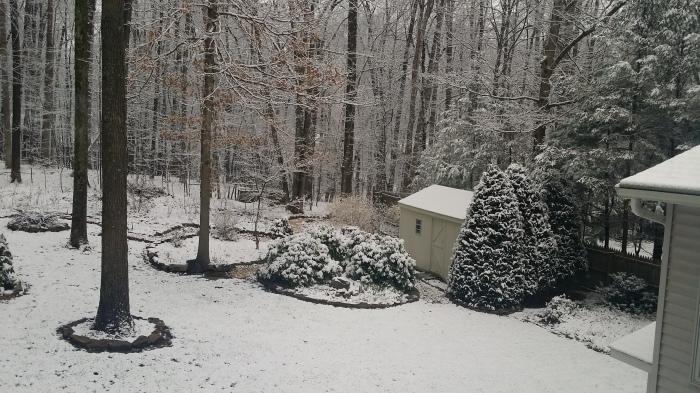 Zaterdagochtend. 5 centimeter sneeuw...