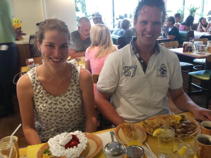 Ontbijten in The Original Waffle Shop