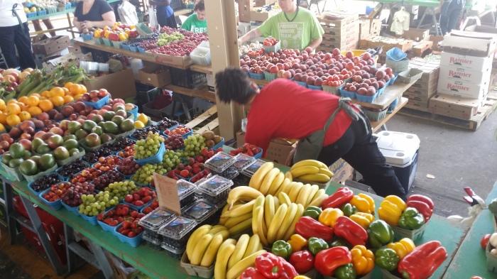 Fruit en groente op de Minneapolis farmers market