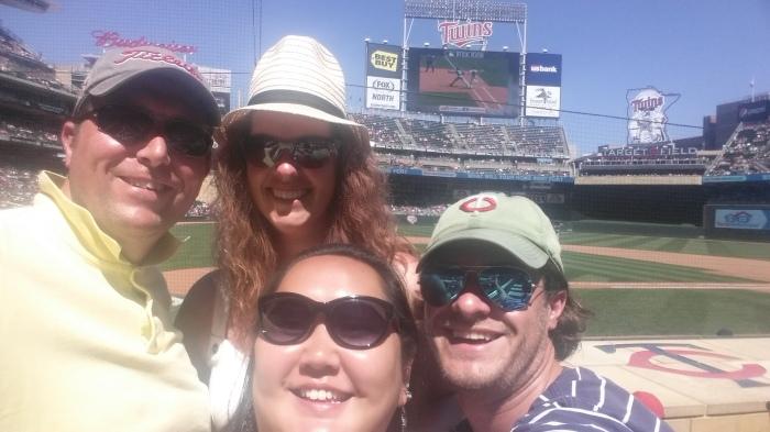 Met z'n vieren naar de Twins - op Target Field, in Minneapolis!