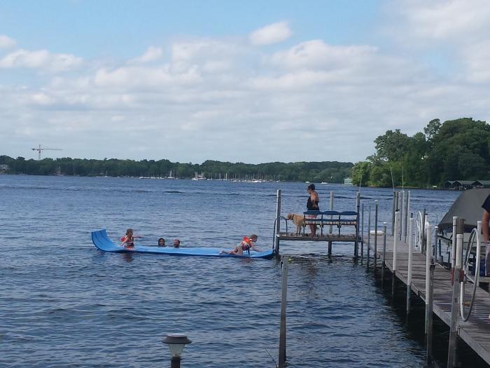 Zwemmen in Lake Minnetonka