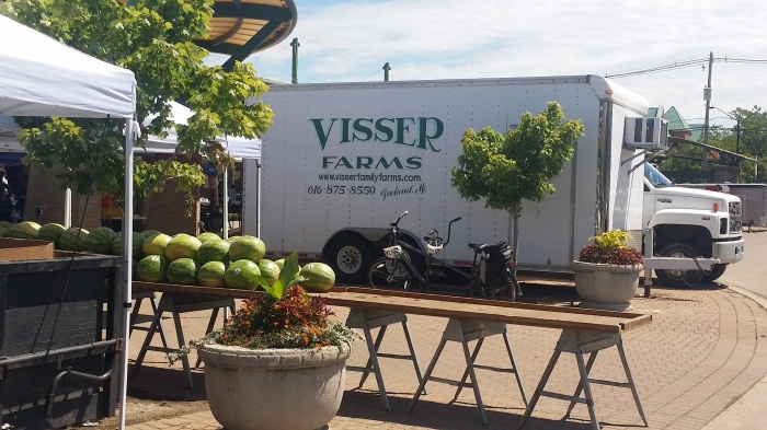 Visser Farms op de Holland farmers market